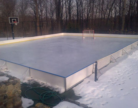 HDPE Anti-UV dasher board fence for ice rink