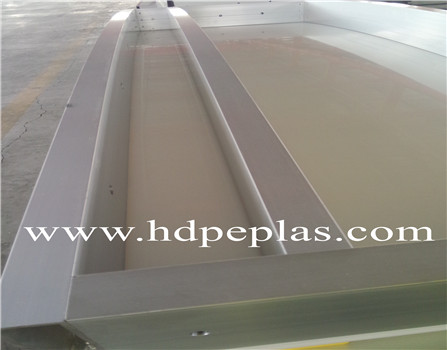 Anti-UV PE-HD plastic dasher boards with steel/Alumnium support structure