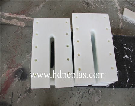 white UHMWPE Tear Drop Scraper replacement blade for conveyor