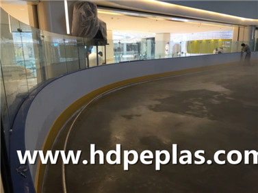 Dasher board system/ICE hockey rink arena