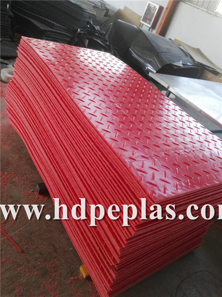Red Ground Protection Mats.