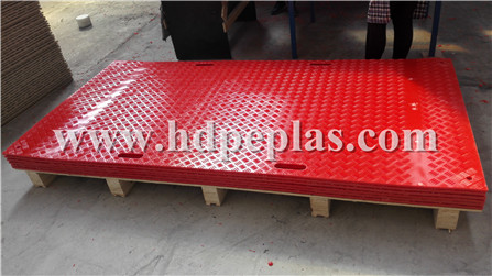 Red Ground protection mats
