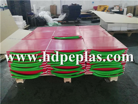 Red Square crane outrigger pad