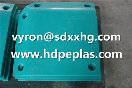 upe plastic panel colored dock fenders edge pad and corner pad in uhmwpe