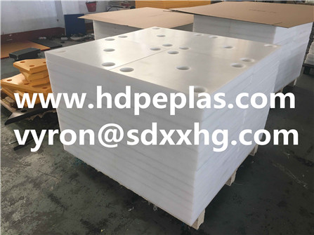 White color UHMWPE ( PE 1000 ) resin fender panel