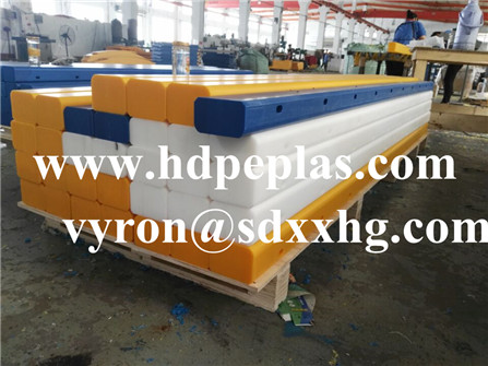 100mm high impact UHMWPE sheet Wear-resistant PE white strips