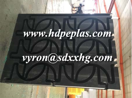 UHMWPE/HDPE wear block with holes by customized drwing.