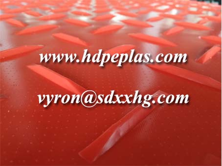 Red Color ground cover mats with customized logo
