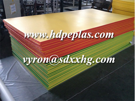 Double Colour and Three Layers Embossed HDPE Sheet