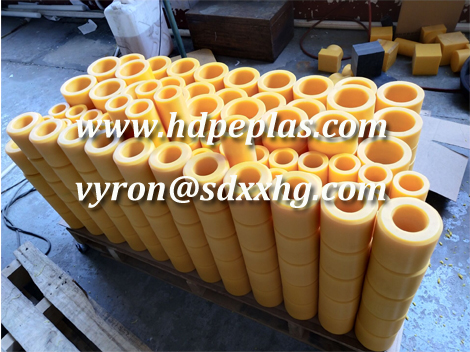 Wear resistant HDPE/UPE TUBE/ROLLER