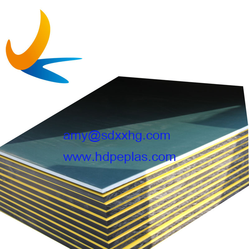 polyethylene plastic dual color sheet in orange peel