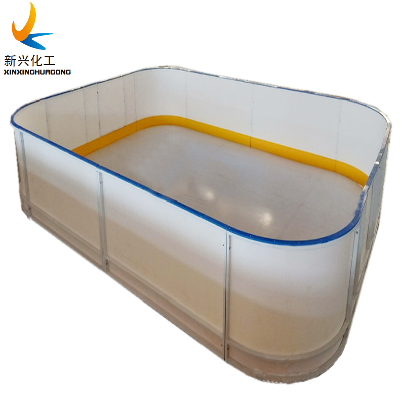synthetic ice rink dasher board system