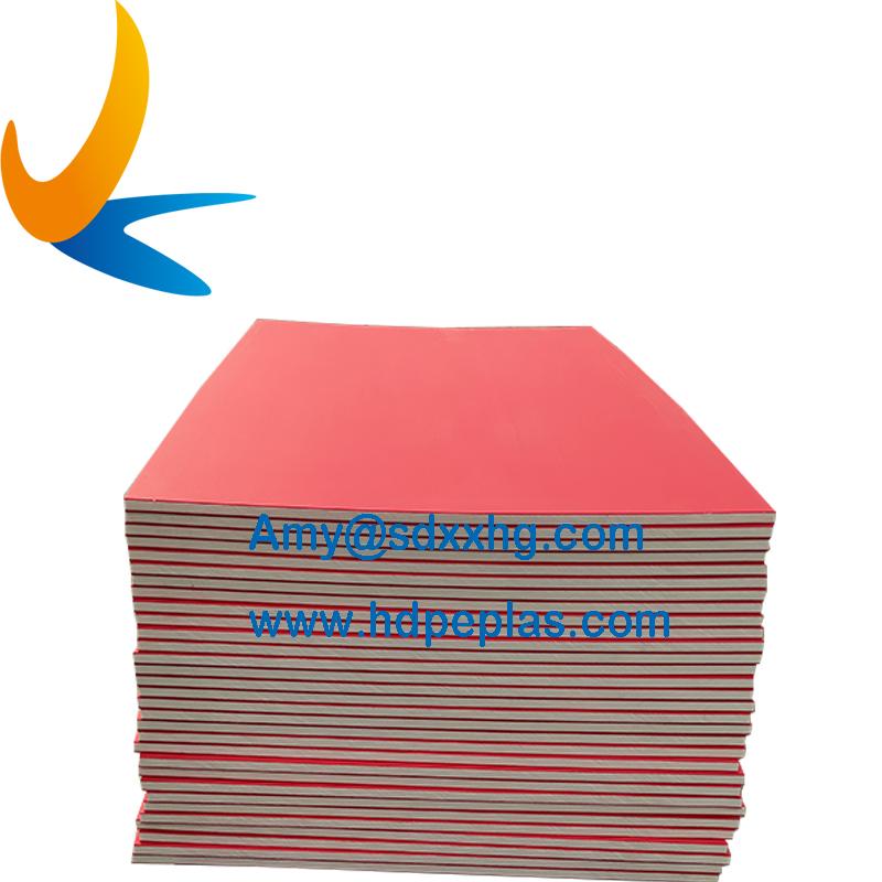 black dual color hdpe sandwich board orange peel surface hdpe texture sheet