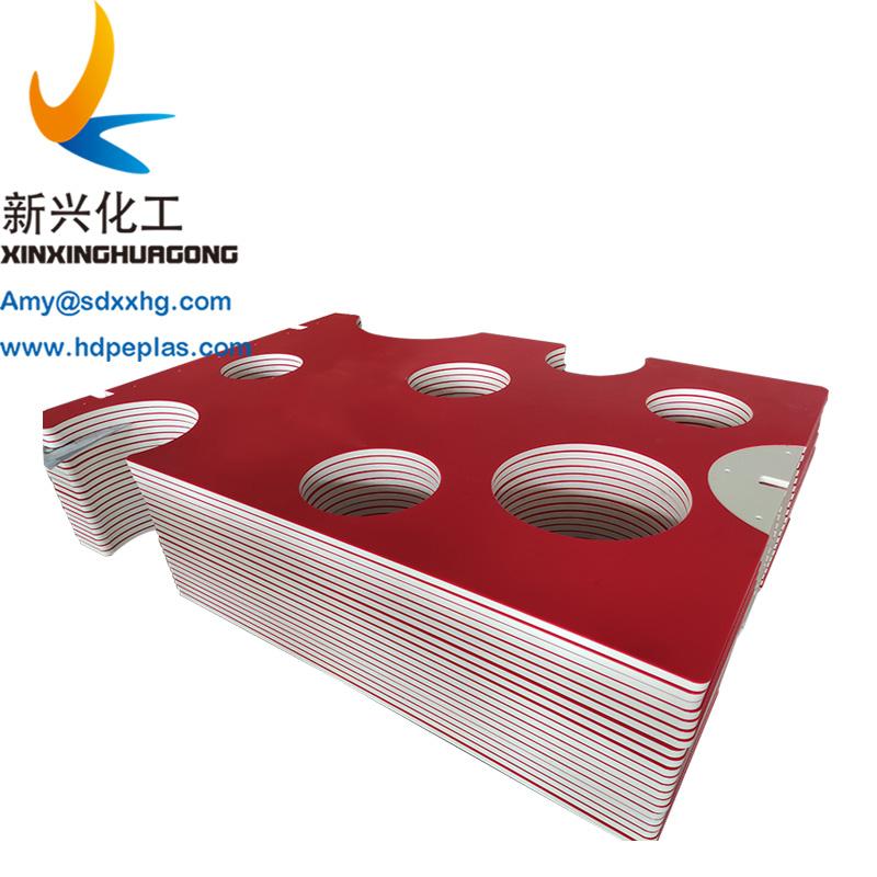 dual color hdpe sandwich board orange peel surface hdpe texture sheet