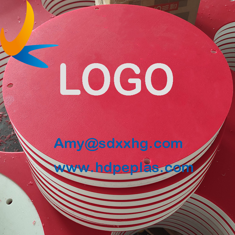 three layer double color hdpe board Plastic hdpe sheet