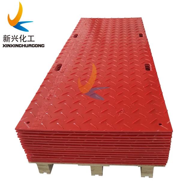 PE plastic flooring mat, recycled HDPE car mat, texture ground protection mat