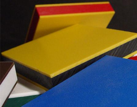 yellow and black dual layer double colour HDPE plastic sheet