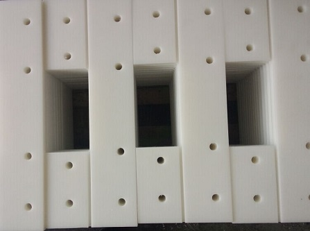 anti wear uhmwpe conveyor paddle/scraper blade/drag flight pad