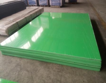 Green color polypropylene plastic sheet / board