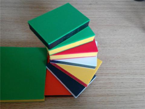 Sandwich 3 layer HDPE double color plastic sheet