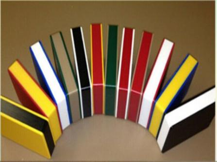 HDPE bright color three layers two colors sheet and board