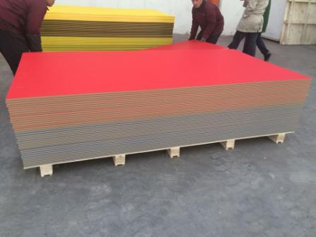 Plastic textured ABA color HDPE sheet for children playground