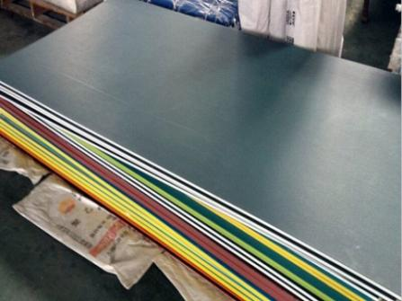 yellow black yellow layer double colour HDPE sheet, plastic sheet