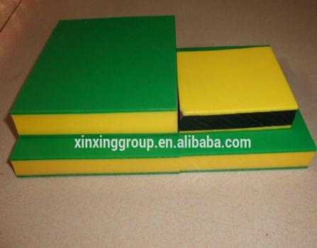 triple layer colour HDPE and PP sheets HDPE plate