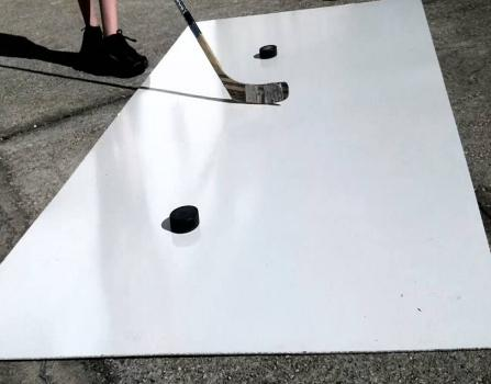 UV protection white hdpe hockey shooting pad/board