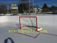 XINXING ice rink barrier/fence/dasher board sold in CANADA installed and used very successfully in this winter