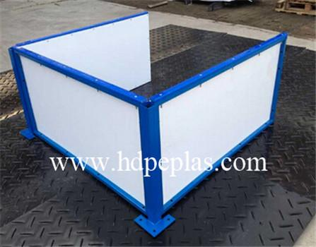 plastic hdpe ice rink barrier sheet/soccer dasher board plastic wall
