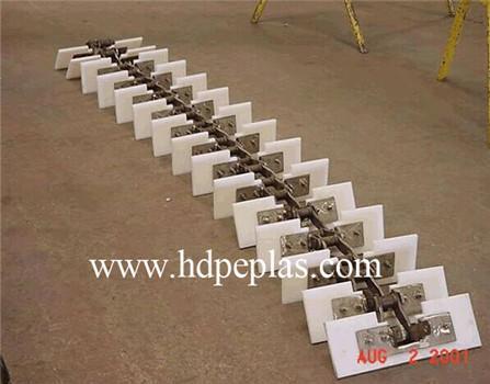 Drag conveyor UHMW-PE flights,UHMW Machined Parts,UHMWPE conveyor paddle