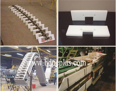 Manufacturer anti-abrasion white HDPE / UHMWPE Cushin plate