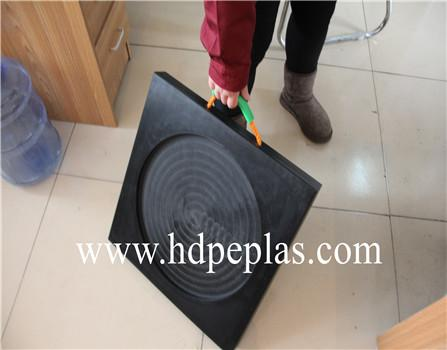 UHMW PE plastic track pad | Easy to carry mobile outrigger pad