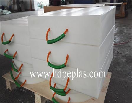 Crane foot bearing support | UHMWPE outrigger pad | UHMWPE crane pads