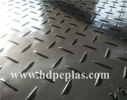 Extruted HDPE temporary road mat | HDPE ground protection mat