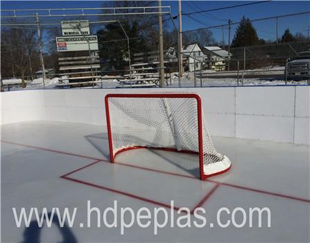HDPE ice skating plate/ puck shooting sheet/synthetic hockey dasher board
