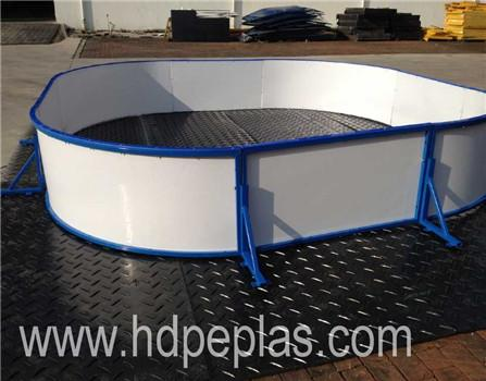 HDPE balustrade for ice rink