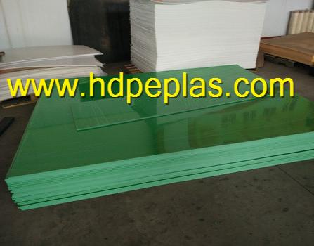 High quality PE Material extruded green color HDPE sheet
