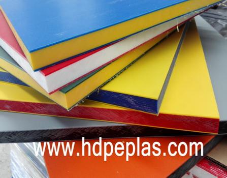 Dual color 3 layer HDPE texture sheet