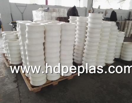 HDPE Plastic Anti-abrasion Idler Roller for Transport Lines