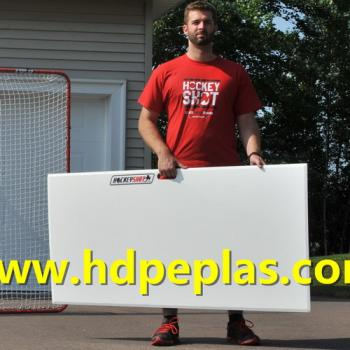 Outdoor and indoor practice hockey shooting pad synthetic ice rink
