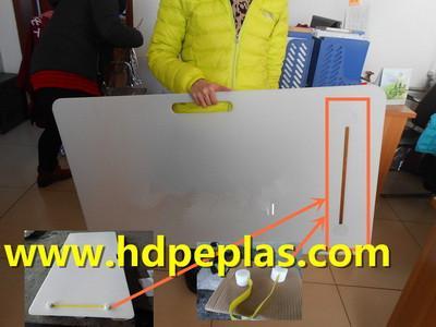 Premium material chamfer HDPE hockey shooting pad