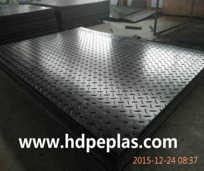 Water proof HDPE ground cover mats temporary roadways