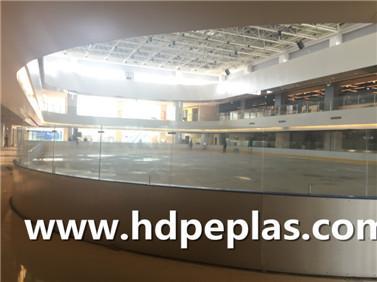 Dasher board system/ICE hockey rink arena