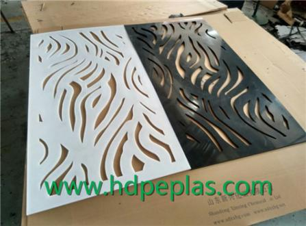 New Design HDPE screen panel for decoration