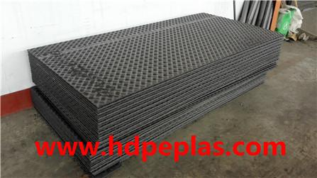 Non-slip HDPE ground protection black plastic outdoor mat