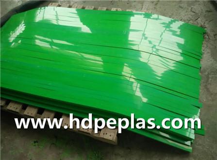 Green UHMW-PE/HDPE Wear strips
