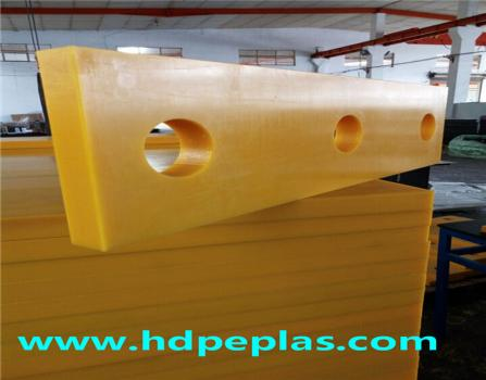high quality uhmwpe/hdpe wear parts with drilling holes