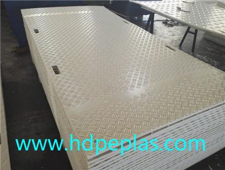 Natural color HDPE Road way cover mats